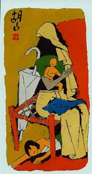 mother xiv by maqbool fida husain