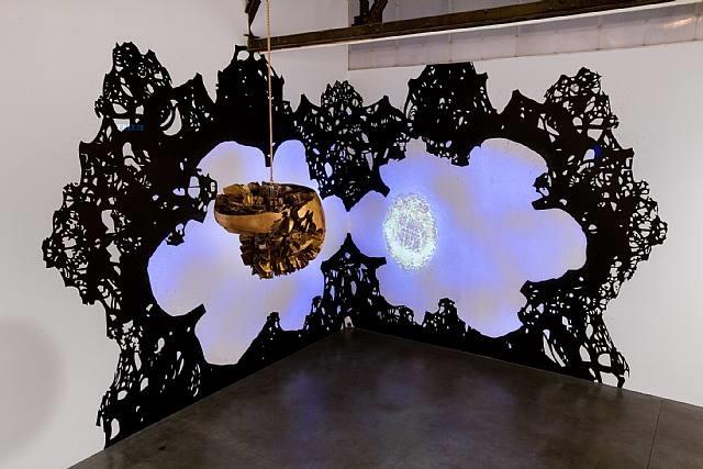 installation view by matthew ritchie
