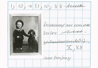 hommage an meinen vater (hommage to my father) by hanne darboven