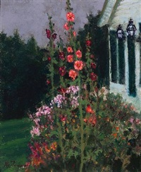 bill mitchell's hollyhocks, fading light by anthony michael autorino