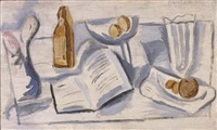 book, compote and glass by stuart davis