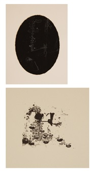 alias i and ii (2 prints from ssblak!ssblak!!ssblakallblak! wonder#9 portfolio) by ellen gallagher
