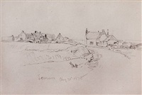 english coastal village, aug. 31, 1878 by william trost richards