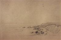 sandy cliffs at cuttyhunk, massachussets by william trost richards