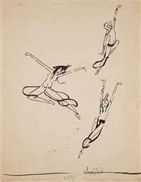 three leaping dancers by clara tice