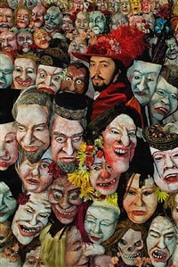 <!--60-->ensor with masks (after ensor) by philip haas