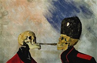 <!--57-->skeletons fighting over a pickled herring (after ensor) by philip haas