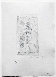 the etching by alberto giacometti