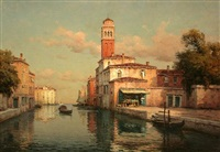 a view of venice by antoine bouvard