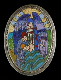 nativity brooch by harold stabler and phoebe stabler