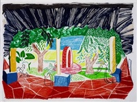 views of hotel 1 by david hockney