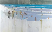 untitled (beach scene) by hurvin anderson