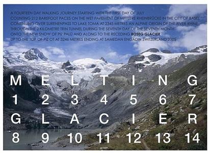 melting glacier by hamish fulton