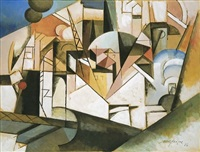 paysage by albert gleizes