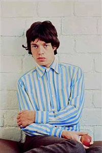 mick jagger with apple, paris, february, 1966 by jean-marie périer