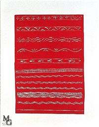 red ornament from the pasiphaé suite by henri matisse