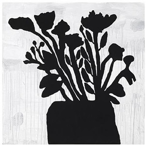 flowers in vase by donald baechler