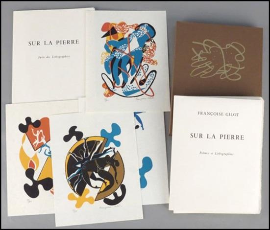 sur la pierre. poemes et lithographies & suite des lithographies (12 works) by françoise gilot