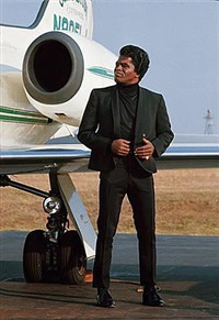james brown and his airplane, long island airport, usa, april 1967 by jean-marie périer