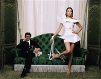yves saint laurent and carla bruni, paris, 1998 by jean-marie périer