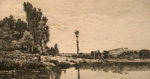 marne landscape (after daubigny) by thomas moran