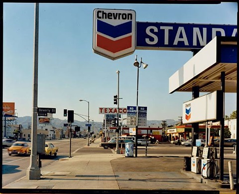 la brea avenue and beverly boulevard, los angeles, california, june 21, 1975 by stephen shore