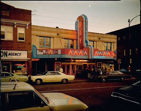 bay theater, second street, ashland, wisconsin, july 9, 1973 by stephen shore