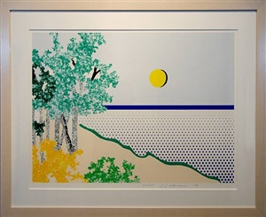 untitled (sea) by roy lichtenstein