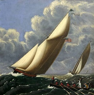 henrietta & fleetwing race on long island sound by william carr