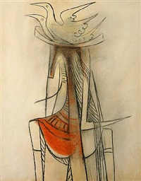 femme cheval by wifredo lam