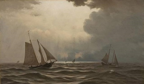 ships at sea by william frederick de haas