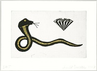 diamond snake by donald baechler