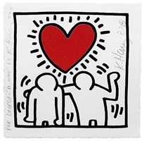 untitled (be mine) by keith haring