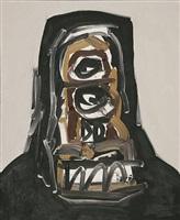 retrato 4-96 (portrait 4/96) by antonio saura