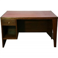a rosewood and leather desk by pierre jeanneret for chandigarh by pierre jeanneret