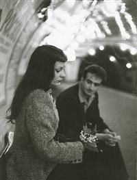 le muguet du métro (marc and christiane chevalier in the paris metro) by robert doisneau