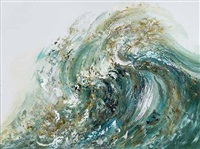 summer wave tossing sand by maggi hambling