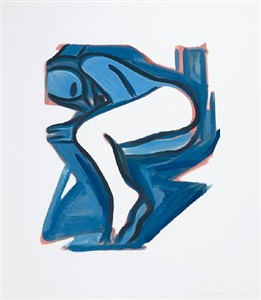 blue nude no. 3 by tom wesselmann