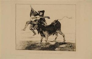 aveugle enlevé sur les cornes d'un tauréau (dios se lo pague a usted) by francisco de goya