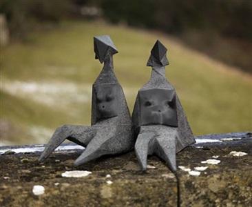maquettes vi & vii sitting elektra by lynn chadwick