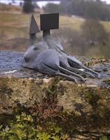 maquette ii two reclining figures by lynn chadwick