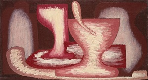 red still life n2 by serge charchoune