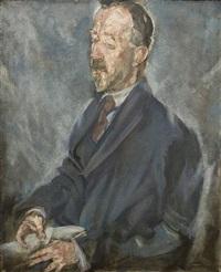 portrait von heinrich mann by max (mopp) oppenheimer