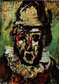 clown tragique by georges rouault