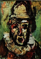 clown tragique by georges rouault