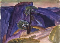 half dome, yosemite by william zorach