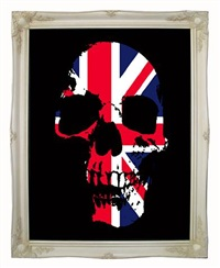 union jack skull by ben allen