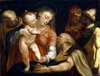 the adoration of the magi by luca cambiaso