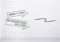 brought to touch (detail) by lawrence weiner