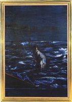 untitled (half length figure in sea) by francis bacon
